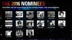 2016 Rock Hall Nominees