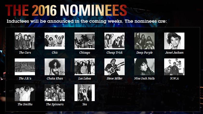 2016 Rock Hall Nominees